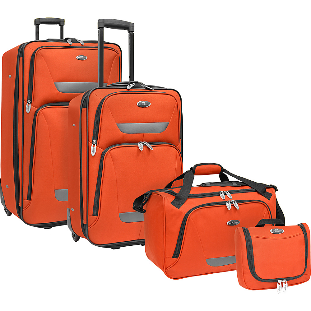 U.S. Traveler Westport 4-Piece Luggage Set Orange - U.S. Traveler Luggage Sets