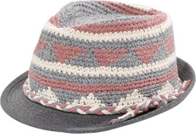 San Diego Hat Cable Knit Fedora One Size - Gray - San Diego Hat Hats/Gloves/Scarves