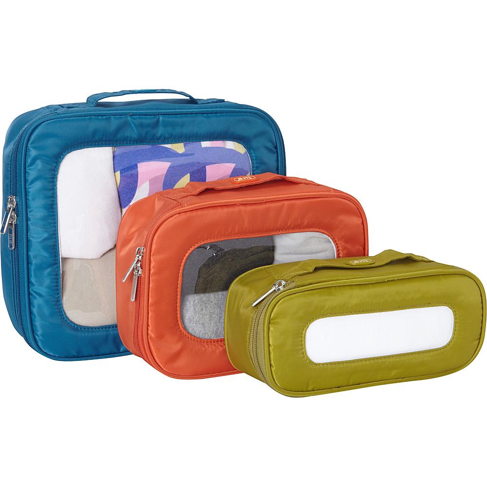 Lug Bento Box 3pc Storage Container Set Assorted Colors Lug Travel Organizers