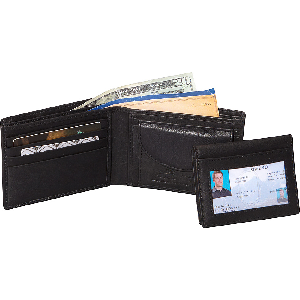 Mancini Leather Goods Collegiate Collection: RFID Men's Wallet NEW