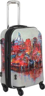 IT Luggage 4-Wheeled Painted London 22″ Carry On Painted London ...