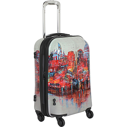 IT Luggage 4-Wheeled Painted London 22 Carry On Painted London - IT Luggage Small Rolling Luggage