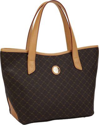 Rioni Tulip Tote Signature (black) - Rioni Fabric Handbags