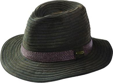 Stetson Cotton Packable Fedora Brown-Large - Stetson Hats/Gloves/Scarves
