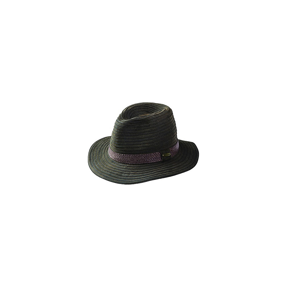 Stetson Cotton Packable Fedora Brown Large Stetson Hats Gloves Scarves