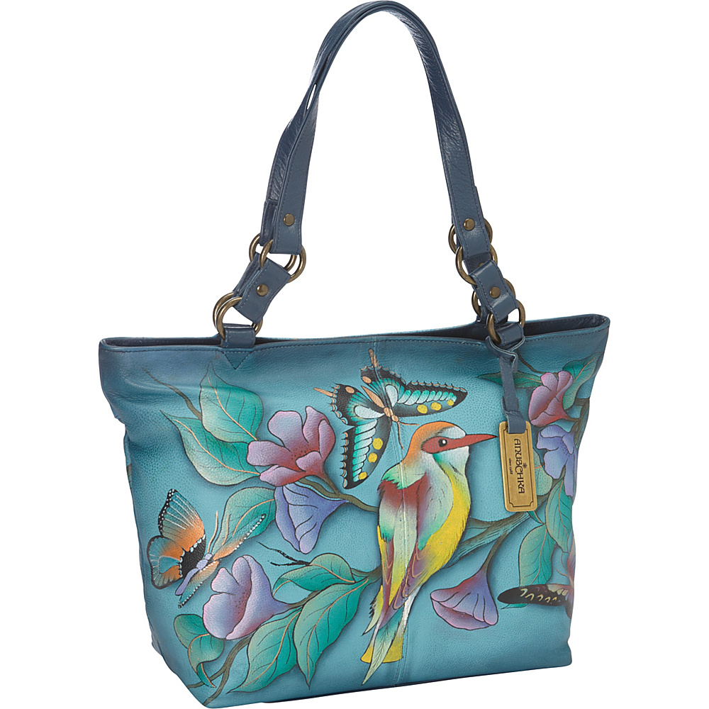 Anuschka Classic Large Tote Hawaiian Twilight - Anuschka Leather Handbags