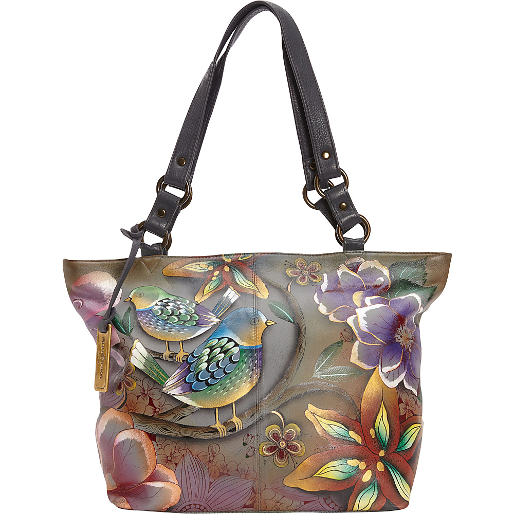 Anuschka Classic Large Tote Blissful Birds - Anuschka Leather Handbags