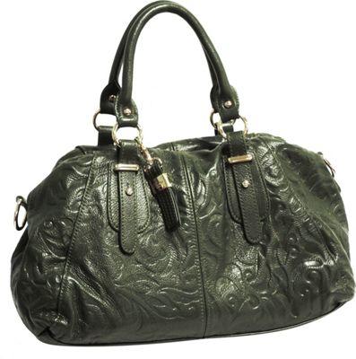 Buxton Fiona E/W Satchel Green (GR) - Buxton Leather Handbags