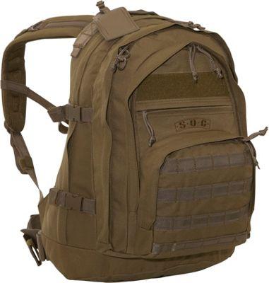 SOC Gear Three Day Elite Lite Coyote Brown, Coyote Tan - SOC Gear Day Hiking Backpacks
