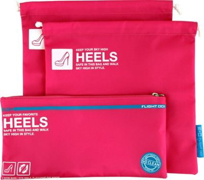 Flight 001 Go Clean Heels Pink - Flight 001 Travel Organizers