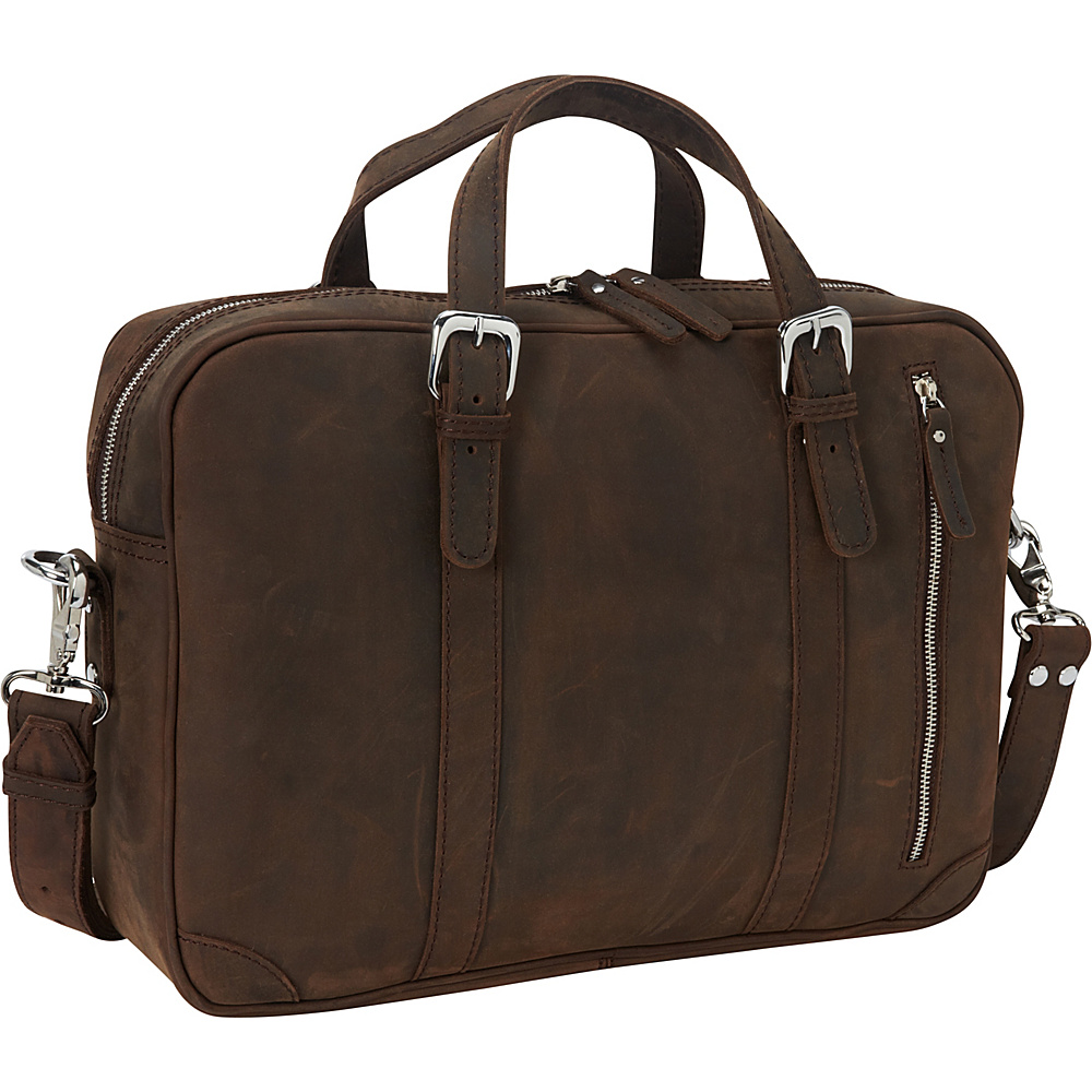 Vagabond Traveler 16.5 Fine Leather Casual Laptop Bag Vintage Distress - Vagabond Traveler Non-Wheeled Business Cases - Work Bags & Briefcases, Non-Wheeled Business Cases