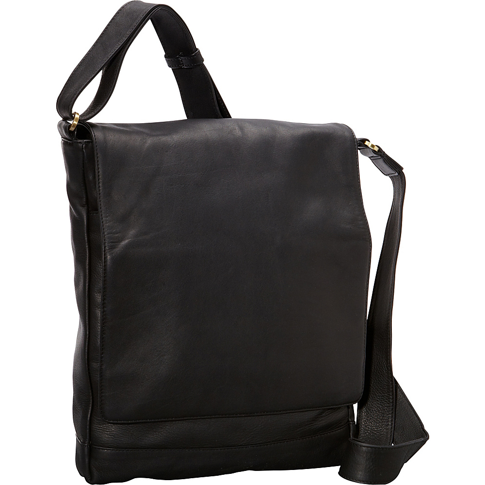 Derek Alexander NS 3/4 Flap Unisex Messenger Bag Black - Derek Alexander Other Mens Bags - Work Bags & Briefcases, Other Men's Bags