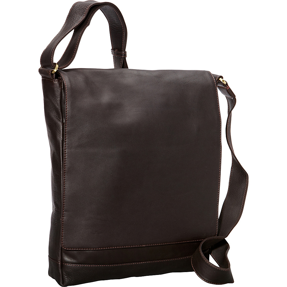 Derek Alexander NS 3/4 Flap Unisex Messenger Bag Brown - Derek Alexander Other Mens Bags - Work Bags & Briefcases, Other Men's Bags