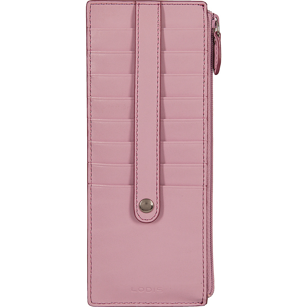Lodis Audrey Credit Card Case with Zip Pocket - Fashion Colors Iced Violet/Beet - Lodis Womens Wallets - Women's SLG, Women's Wallets