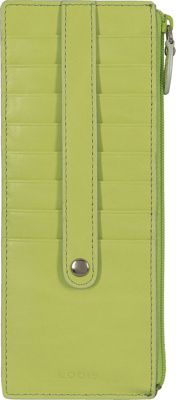 Lodis Audrey Credit Card Case with Zip Pocket - Fashion Colors Lime/Dove - Lodis Women's Wallets