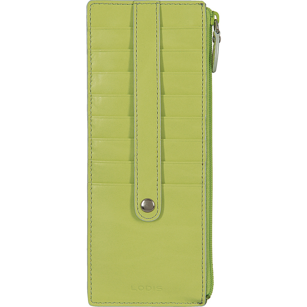 Lodis Audrey Credit Card Case with Zip Pocket - Fashion Colors Lime/Dove - Lodis Womens Wallets - Women's SLG, Women's Wallets