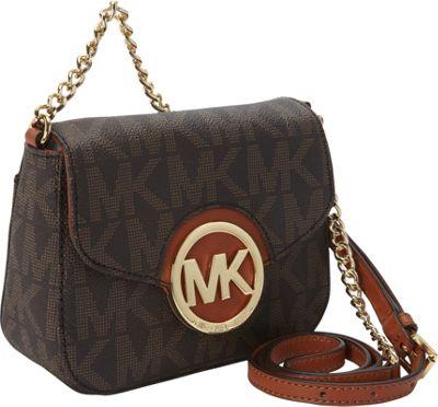 MICHAEL Michael Kors Fulton Small Crossbody Bag Brown - MICHAEL Michael Kors Designer Handbags