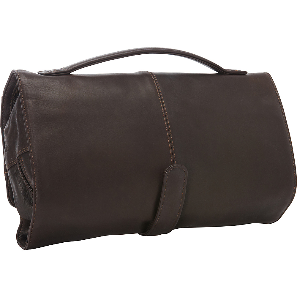 Derek Alexander Deluxe Roll Up Utility Case Brown - Derek Alexander Toiletry Kits - Travel Accessories, Toiletry Kits