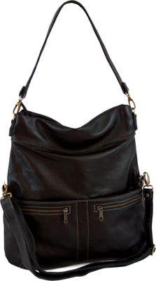 Brynn Capella Lauren Foldover Crossbody Bag Shadows - Brynn Capella Leather Handbags
