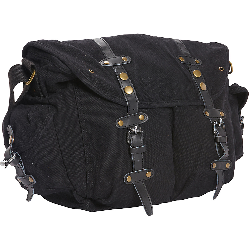 Vagabond Traveler Large Casual 17 Messenger Shoulder Bag Black - Vagabond Traveler Messenger Bags - Work Bags & Briefcases, Messenger Bags