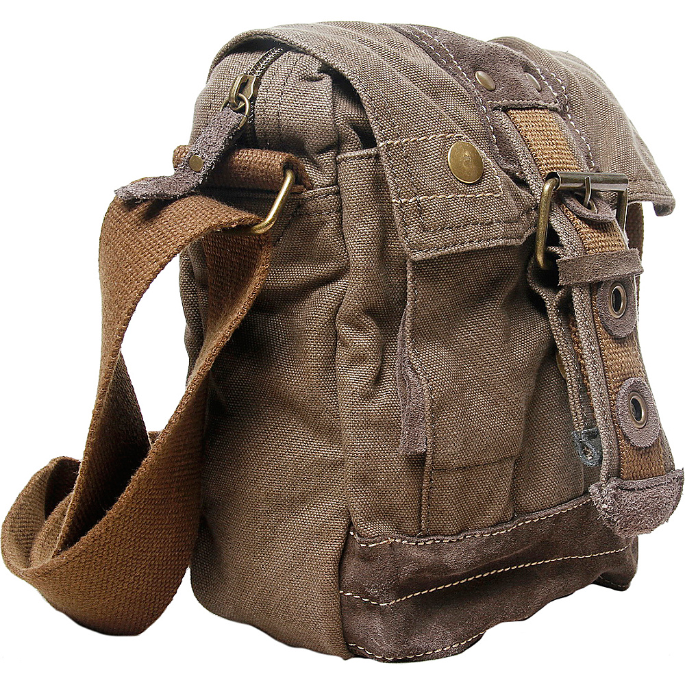 Vagabond Traveler Tall 9 Small Satchel Shoulder Bag Military Green - Vagabond Traveler Slings - Backpacks, Slings