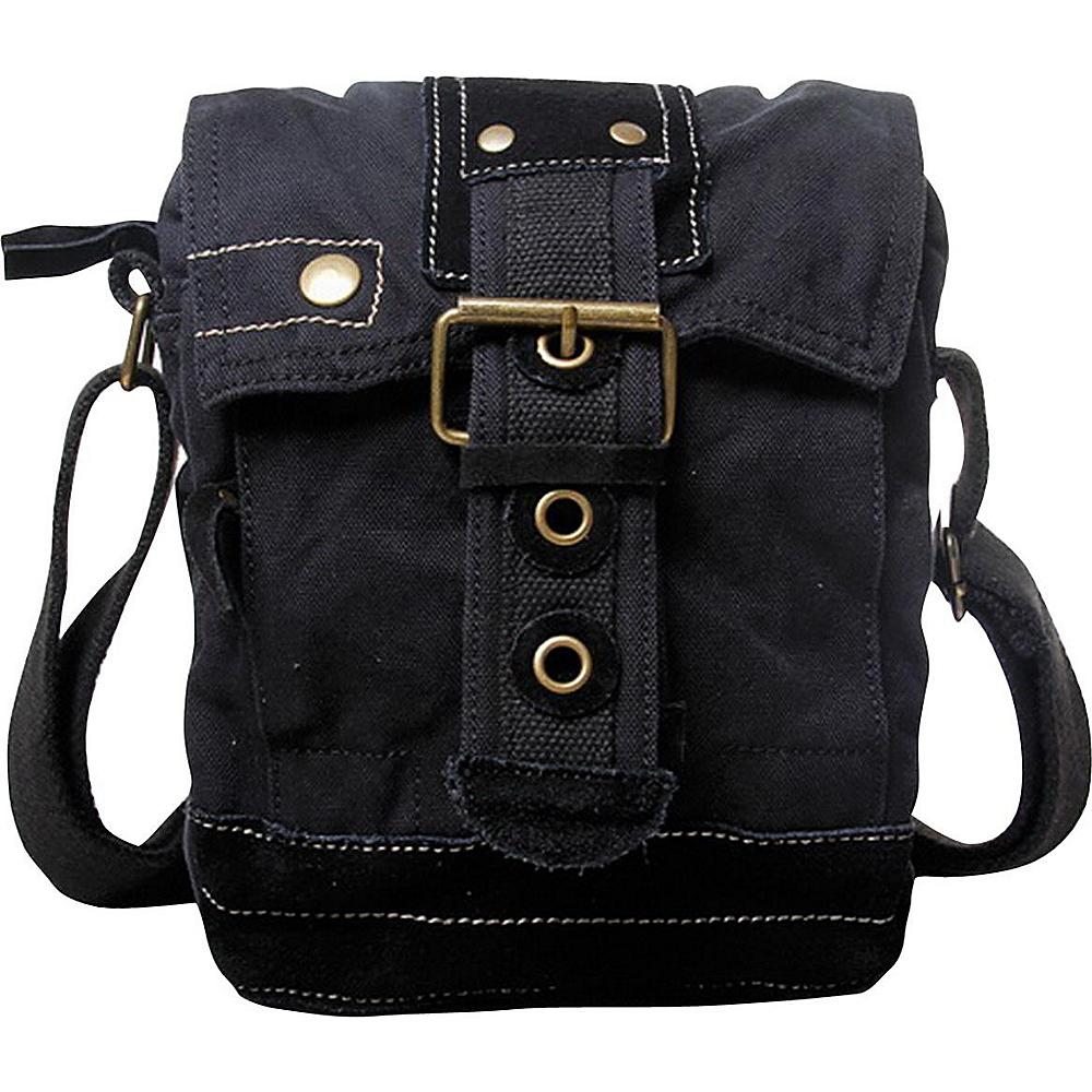 Vagabond Traveler Tall 9 Small Satchel Shoulder Bag Black - Vagabond Traveler Slings - Backpacks, Slings