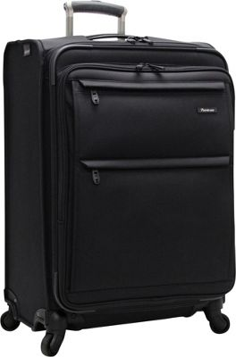 Pathfinder Revolution Plus 25 inch Exp Spinner W/ Suitor Black - Pathfinder Softside Checked