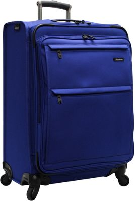 Pathfinder Revolution Plus 25 inch Exp Spinner W/ Suitor Blue - Pathfinder Softside Checked