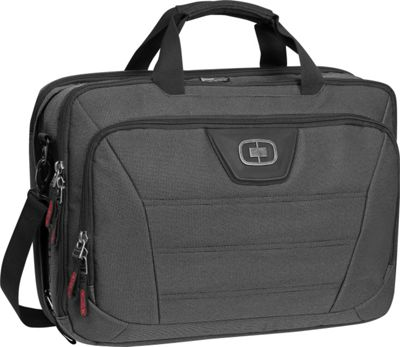 OGIO Renegade Top Zip Briefcase Black Pindot - OGIO Non-Wheeled Business Cases