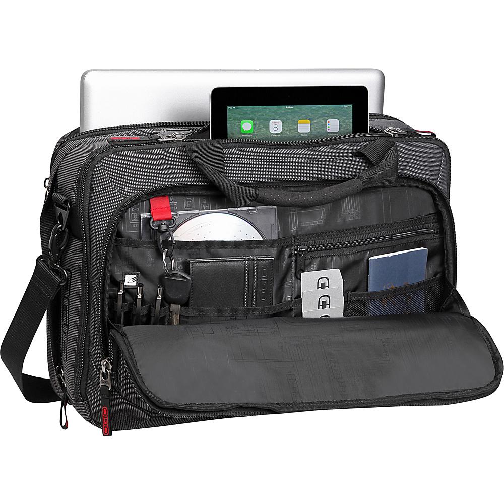 OGIO Renegade Top Zip Briefcase Black Pindot - OGIO Non-Wheeled Business Cases