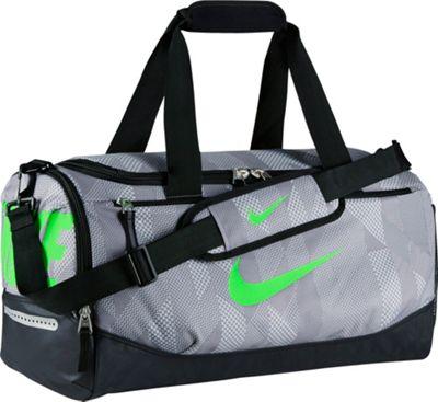 Nike Team Training Small Duffel Wolf Grey/Black/Green Strike - Nike All Purpose Duffels