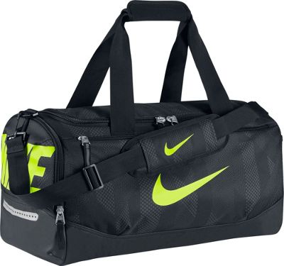 Nike Team Training Small Duffel Black/Black/Volt - Nike All Purpose Duffels