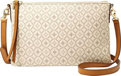 Fossil Sydney Signature Top Zip Crossbody Bone - Fossil Manmade Handbags