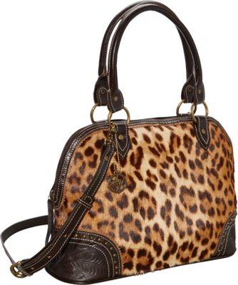 American West Tulsa Twilight Satchel Chocolate/Leopard Hair - American West Leather Handbags