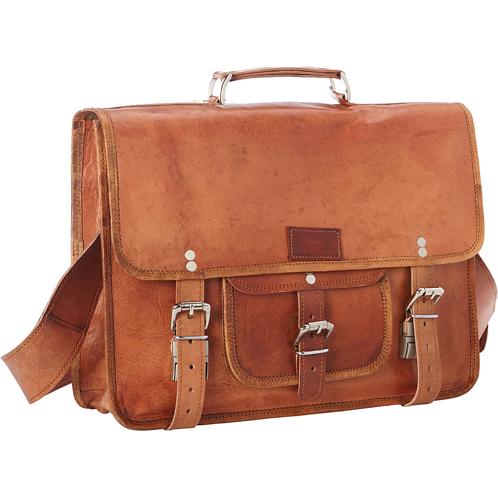 Sharo Leather Bags Leather Messenger and Brief Bag Brown Sharo Leather Bags Non Wheeled Business Cases