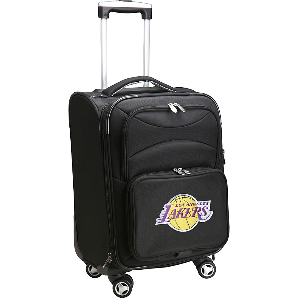 Denco Sports Luggage NBA 20 Domestic Carry-On Spinner Los Angeles Lakers - Denco Sports Luggage Softside Carry-On - Luggage, Softside Carry-On