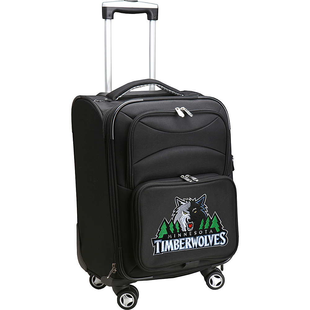 Denco Sports Luggage NBA 20 Domestic Carry-On Spinner Minnesota Timberwolves - Denco Sports Luggage Softside Carry-On - Luggage, Softside Carry-On