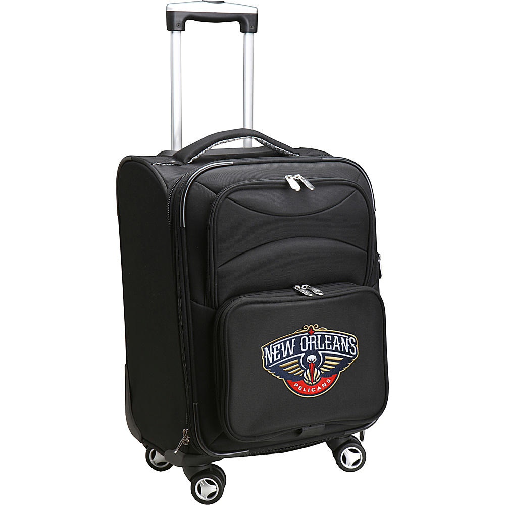 Denco Sports Luggage NBA 20 Domestic Carry-On Spinner New Orleans Pelicans - Denco Sports Luggage Softside Carry-On - Luggage, Softside Carry-On