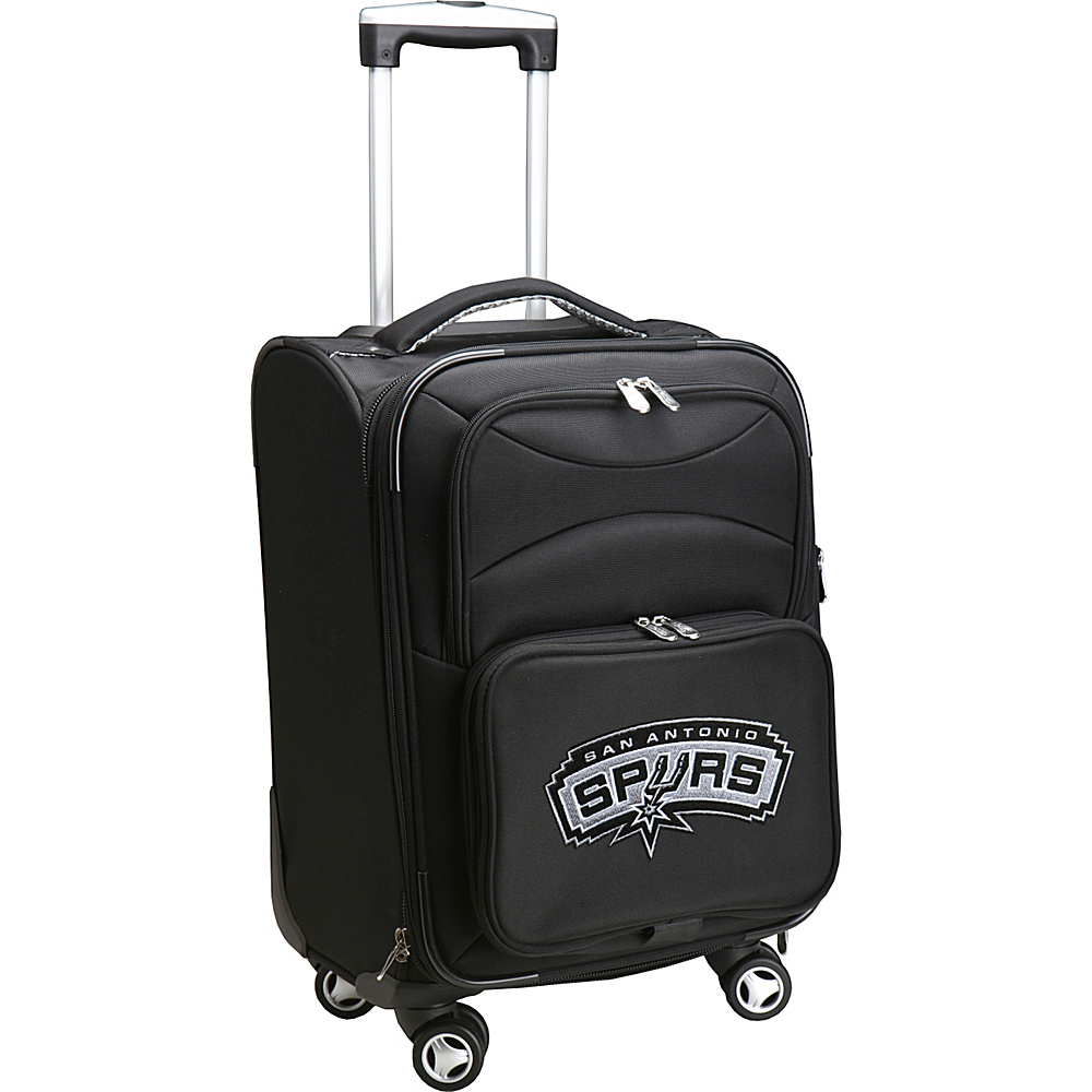 Denco Sports Luggage NBA 20 Domestic Carry-On Spinner San Antonio Spurs - Denco Sports Luggage Softside Carry-On - Luggage, Softside Carry-On