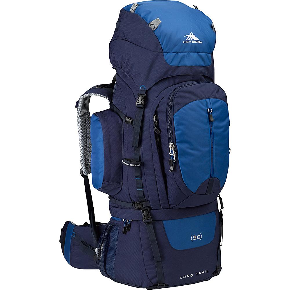 High Sierra Long Trail 90 Backpacking Pack True Navy Royal True Navy High Sierra Day Hiking Backpacks