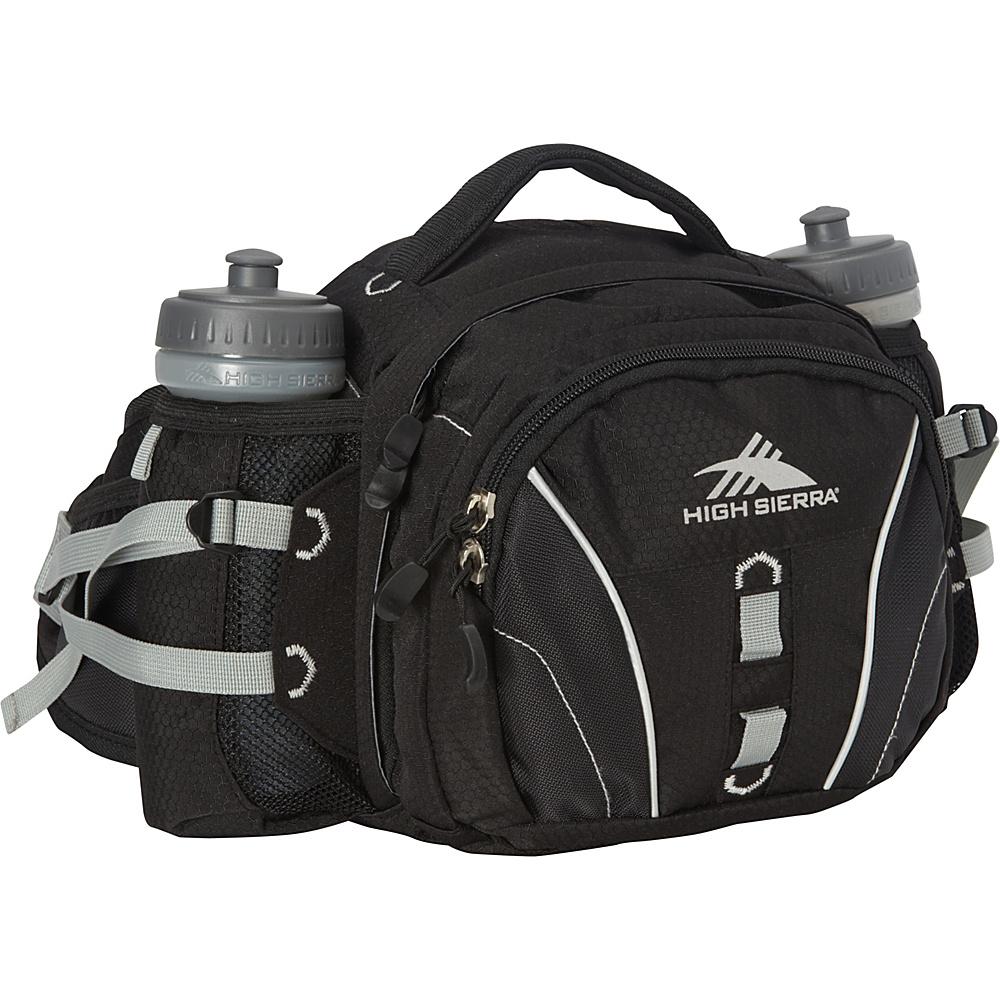 High Sierra Ridgeline Lumbar Pack Black Black Silver High Sierra Day Hiking Backpacks