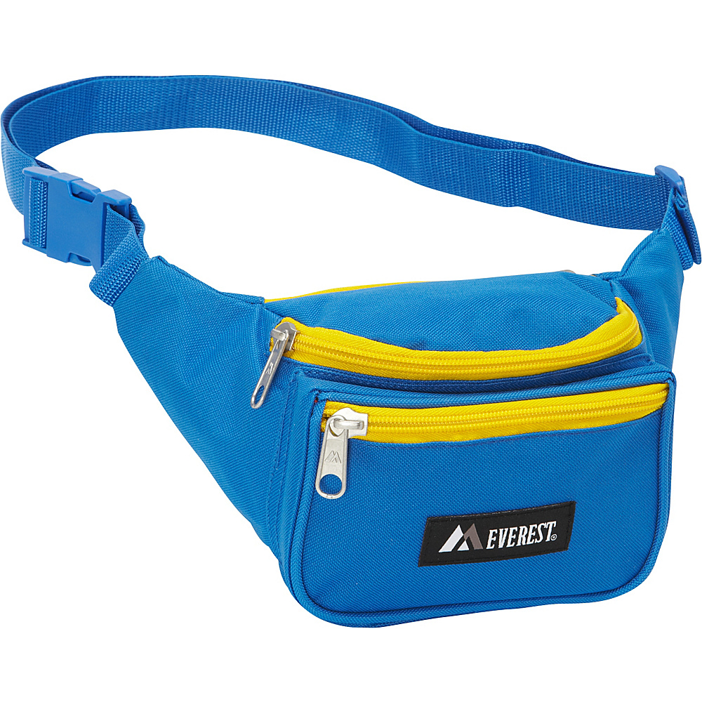 Everest Signature Waist Pack - Standard Royal Blue/Yellow - Everest Waist Packs - Backpacks, Waist Packs