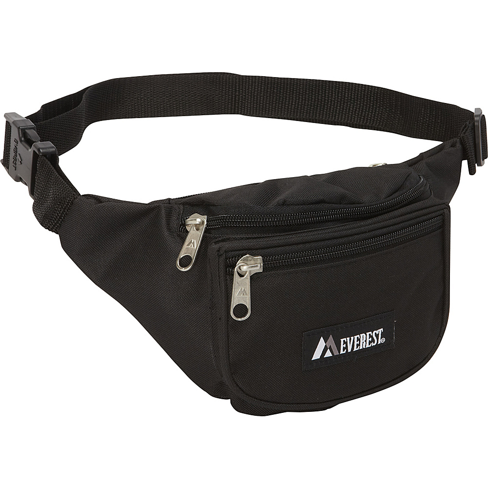 Everest Signature Waist Pack - Standard Black - Everest Waist Packs - Backpacks, Waist Packs