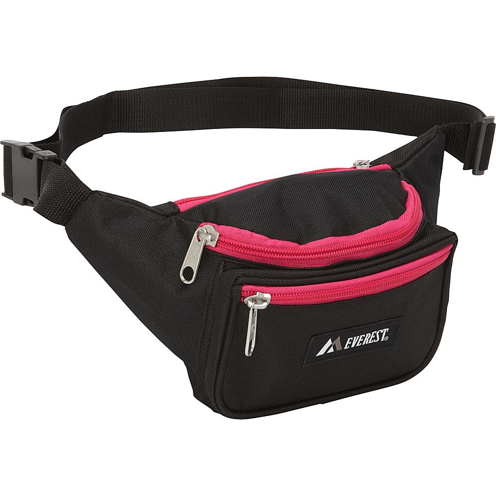 Everest Signature Waist Pack - Standard Black/Hot Pink - Everest Waist Packs - Backpacks, Waist Packs