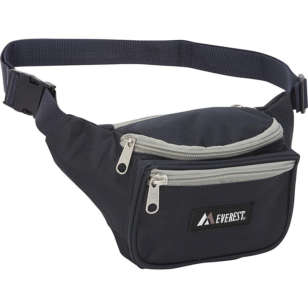 Everest Signature Waist Pack - Standard Navy/Gray - Everest Waist Packs - Backpacks, Waist Packs
