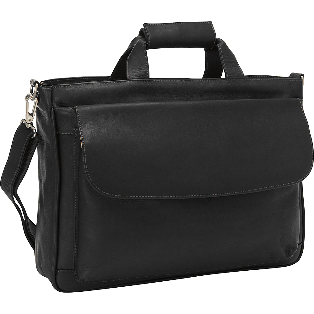 Piel Top-Zip Brief Tote Black - Piel Non-Wheeled Business Cases
