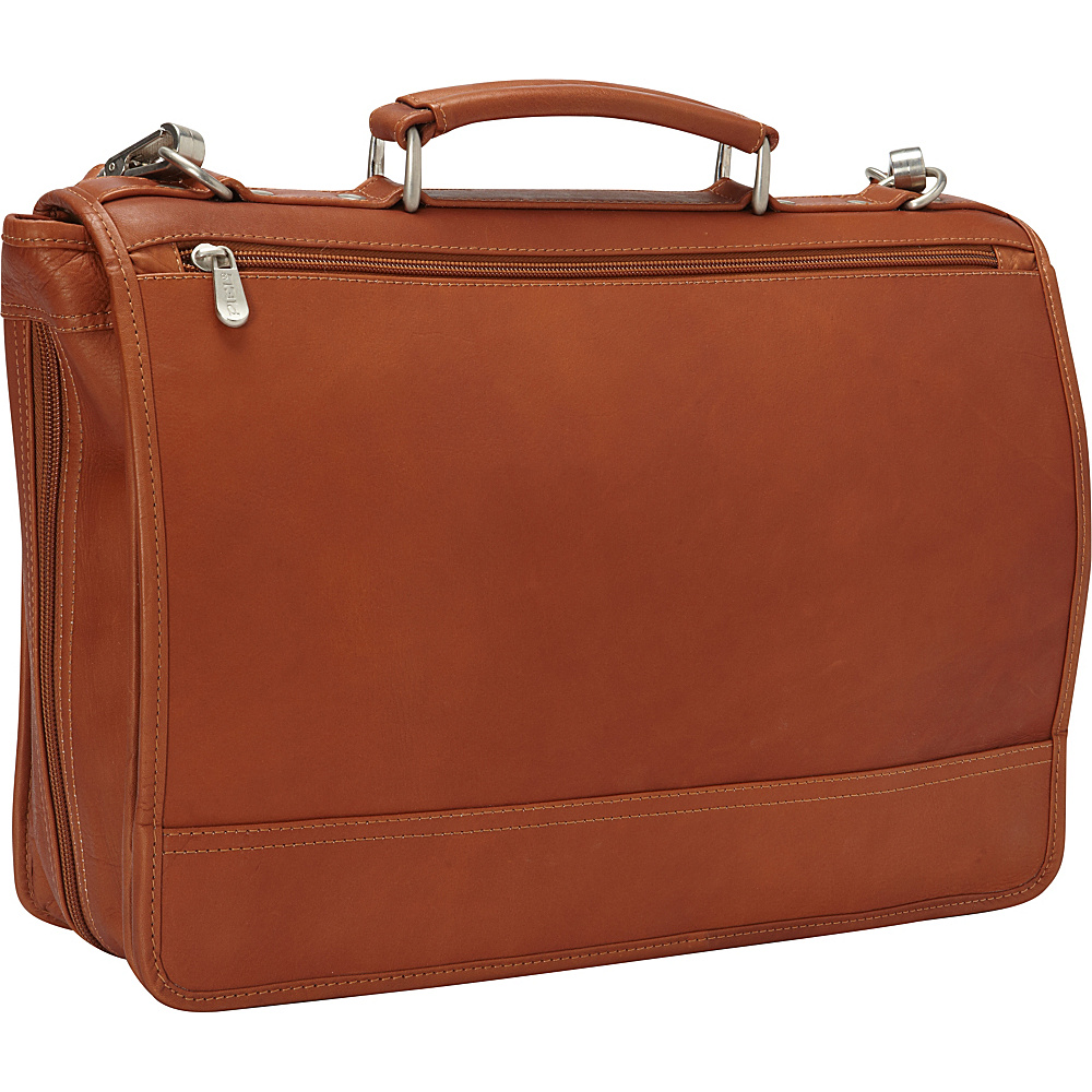 Piel Two-Section Expandable Laptop Portfolio Saddle - Piel Non-Wheeled Business Cases - Work Bags & Briefcases, Non-Wheeled Business Cases