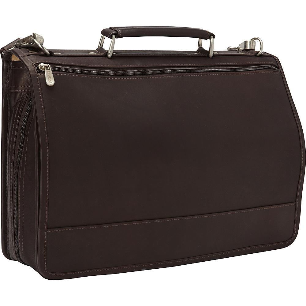 Piel Two-Section Expandable Laptop Portfolio Black - Piel Non-Wheeled Business Cases - Work Bags & Briefcases, Non-Wheeled Business Cases