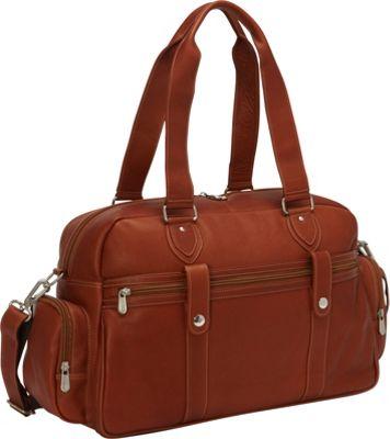 Piel Adventurer Carry-On Satchel Saddle - Piel Luggage Totes and Satchels