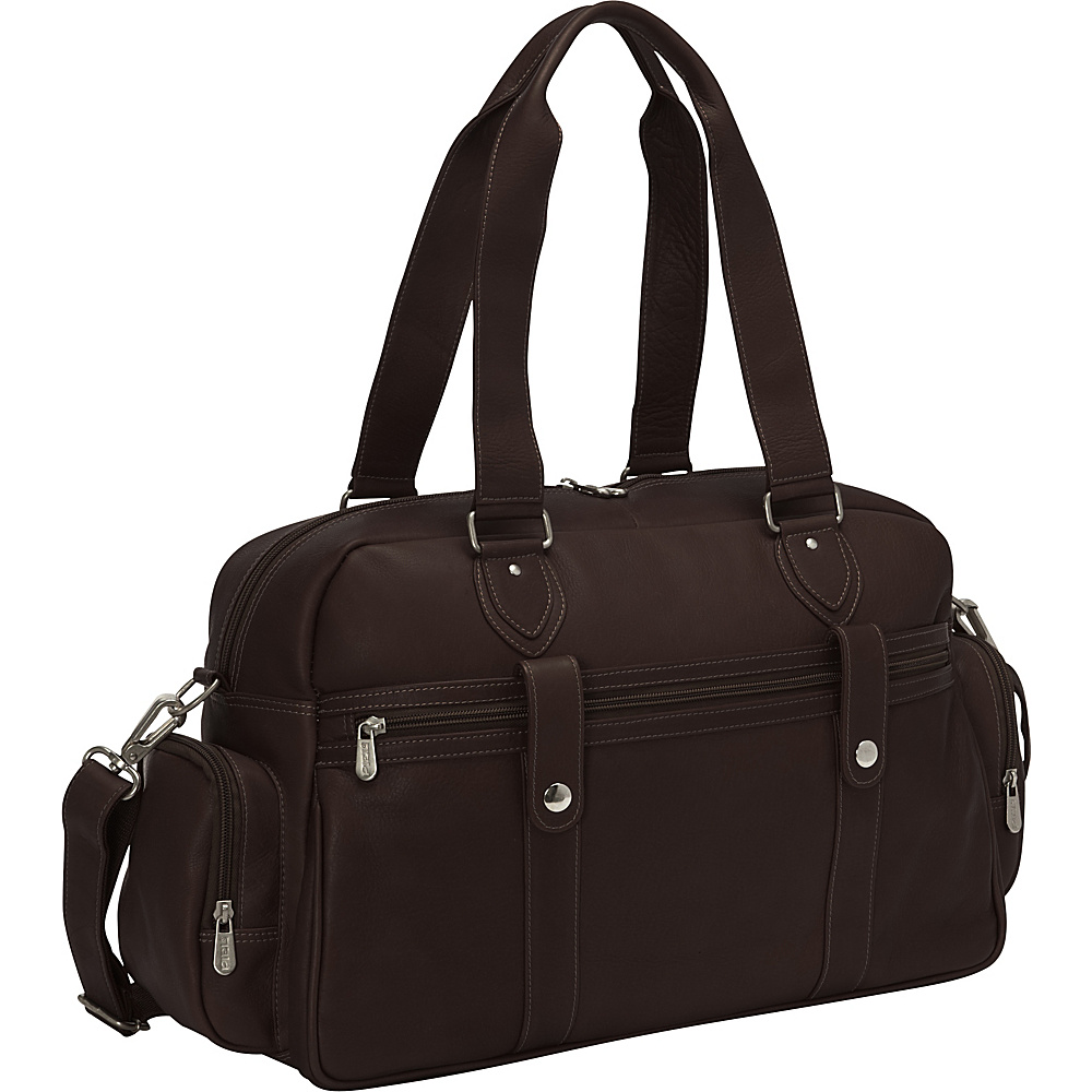 Piel Adventurer Carry-On Satchel Chocolate - Piel Luggage Totes and Satchels